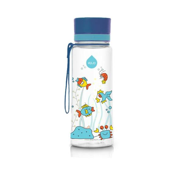 EQUA kulacs Equarium kék kupakkal 600 ml (BPA mentes műanyag)