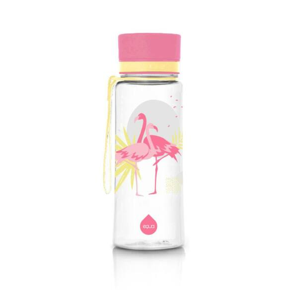 EQUA kulacs flamingó 600 ml (BPA mentes műanyag)