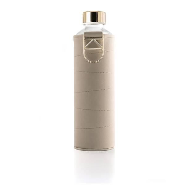EQUA MISMATCH üvegkulacs műbőr borítással Bézs 750 ml