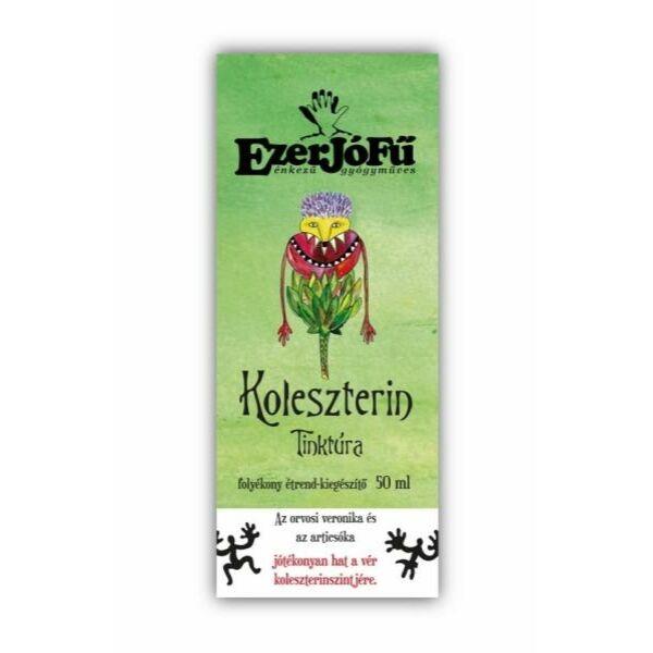 Koleszterin tinktúra gyógynövény cseppek (alkoholos) 50 ml - Ezerjófű