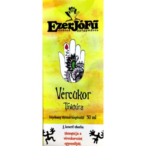 Vércukor tinktúra gyógynövény cseppek (alkoholos) 50 ml - Ezerjófű