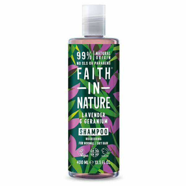 Sampon levendula és geránium- Faith in Nature (400 ml)