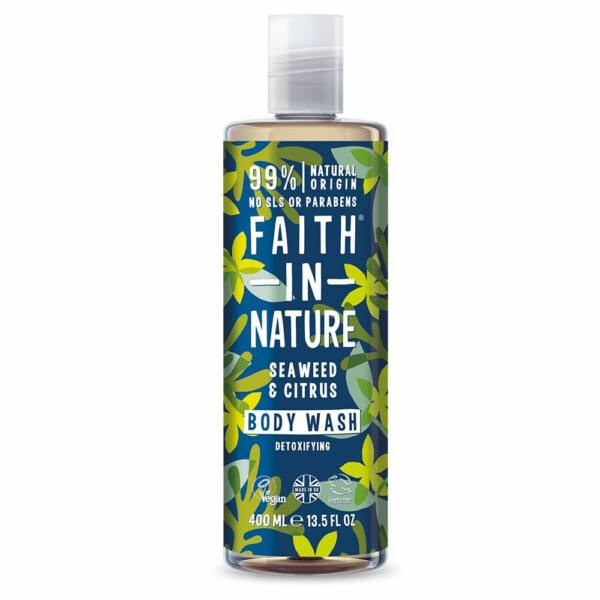 Tusfürdő tengeri hínár és citrus - Faith in Nature (400 ml)