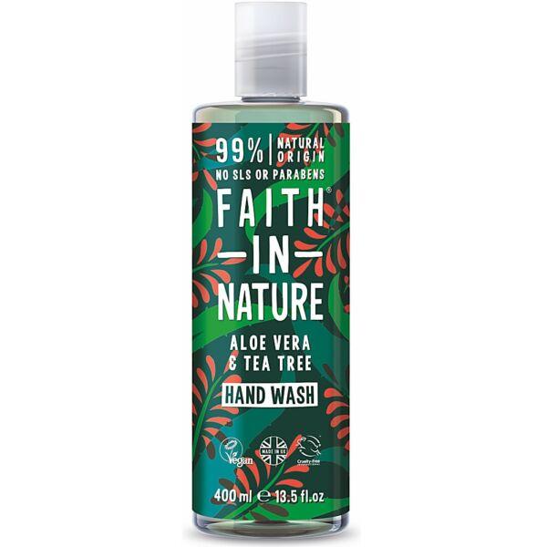 Folyékony kézmosó bio aloe vera és teafa - Faith in Nature (400 ml)
