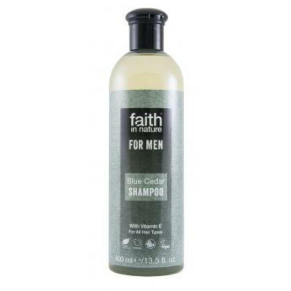 Kék cédrus sampon férfiaknak - Faith in Nature (400 ml)