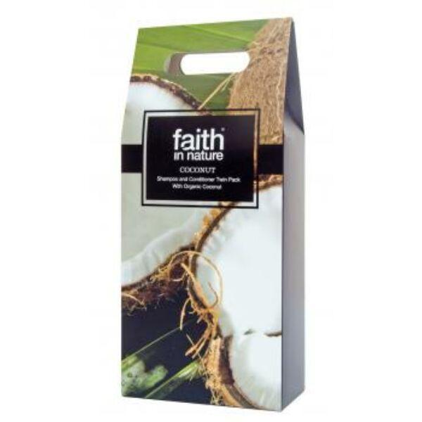 Ajándékcsomag Kókusz sampon+hajkondicionáló 2*250 ml - Faith in Nature