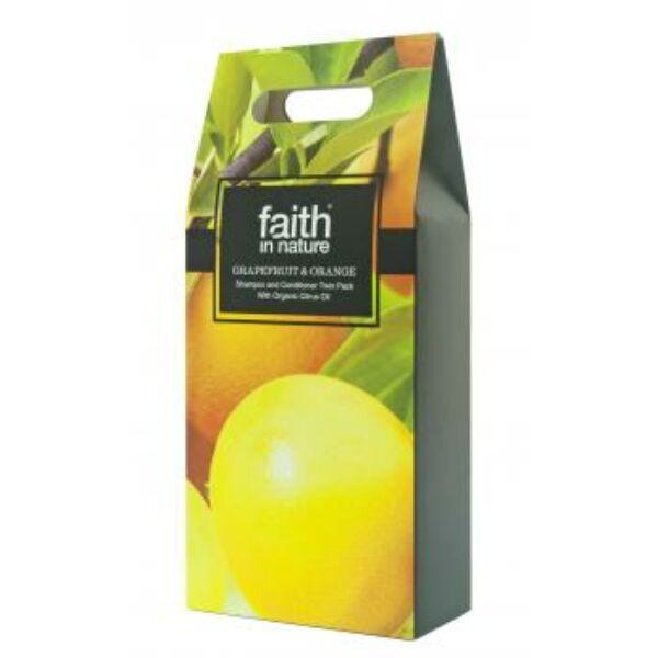 Ajándékcsomag Grapefruit és Narancs Sampon + Kondicionáló 2*250 ml - Faith in Nature