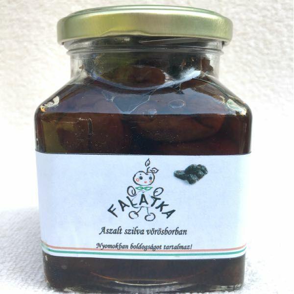 Falatka Aszalt szilva vörösborban 314 ml üvegben