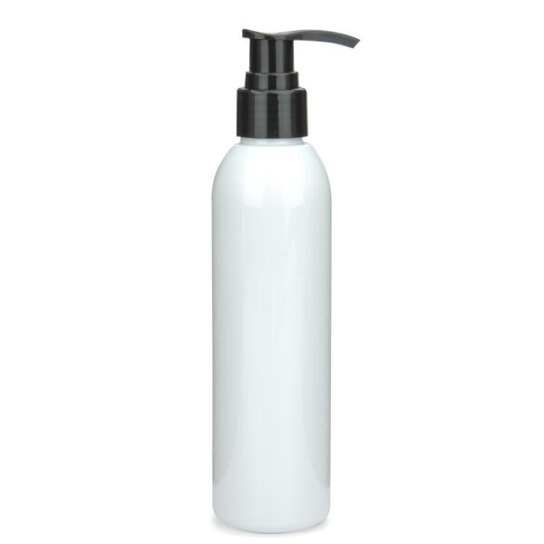 Fehér PET flakon 150 ml, fekete pumpás adagolóval
