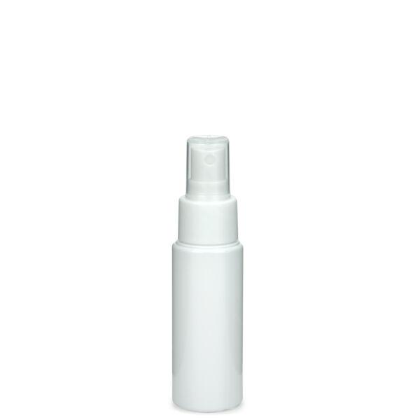 Fehér PET flakon 50 ml, fehér szórófejjel