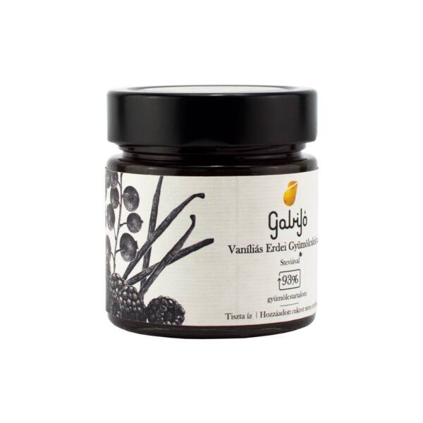 Vaniliás erdei gyümölcslekvár 240 g - GabiJó