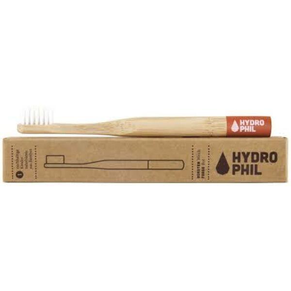 Bambusz fogkefe közepes sörtével piros - Hydrophil