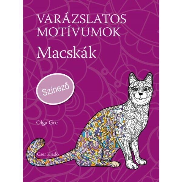 Varázslatos motívumok - Színező - Macskák c. könyv