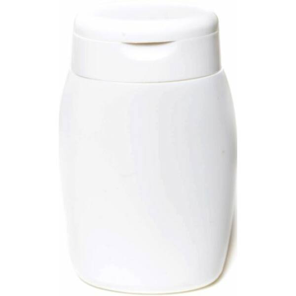 Kozmetikai flakon fehér tetővel 100 ml