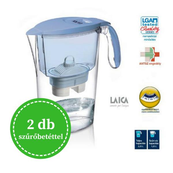 Laica Clear Line vízszűrő kancsó 2 db szűrőbetéttel - kék