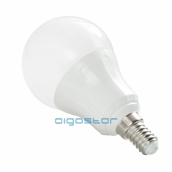 LED izzó gömb E14 7W 280° meleg fehér