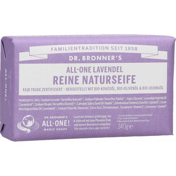 Szilárd szappan levendula 140 g - Dr. Bronners