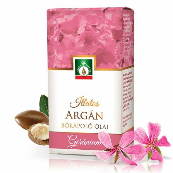 Illatos argánolaj geránium illóolajjal 20 ml - Medinatural
