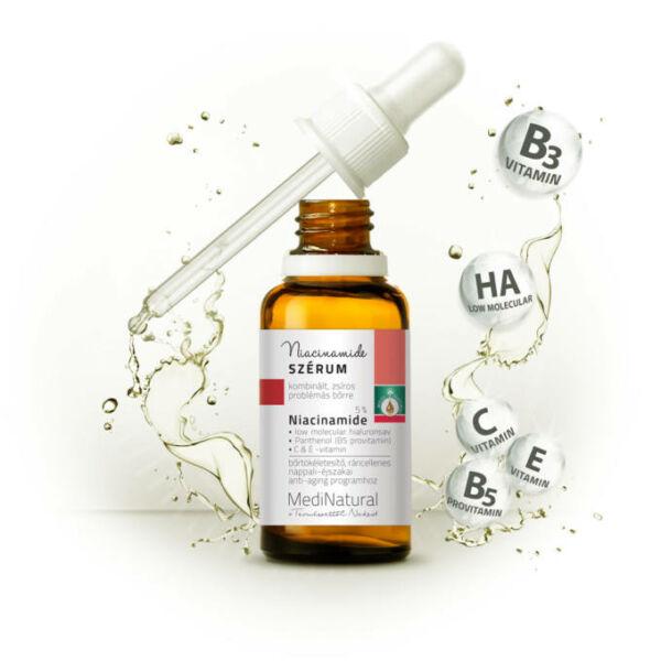 Bőrtökéletesítő, ráncellenes niacinamid szérum 30 ml - Medinatural