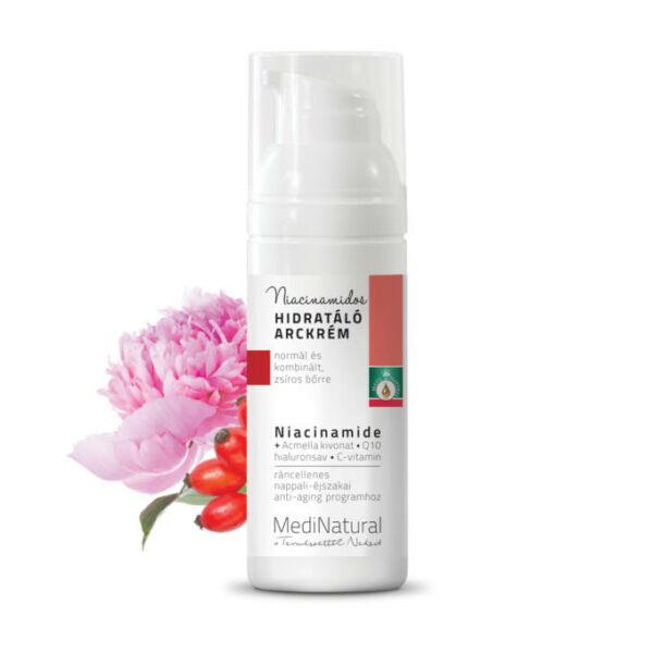 Ráncellenes, niacinamidos hidratáló arckrém 50 ml - Medinatural