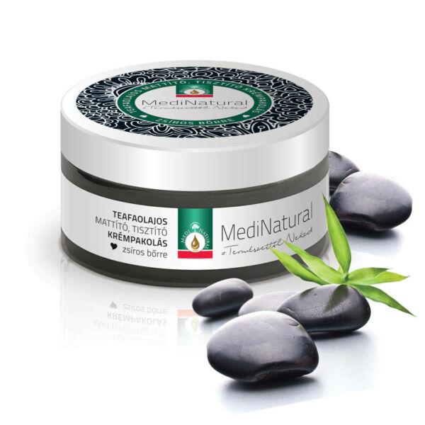Krémpakolás, teafaolajos mattító, tisztító, zsíros bőrre 100 ml - Medinatural