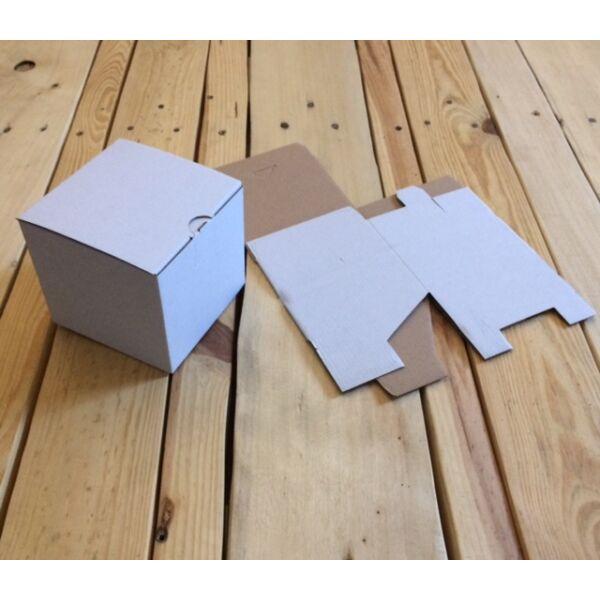 Kartondoboz önzáró fehér 110*110*110 mm