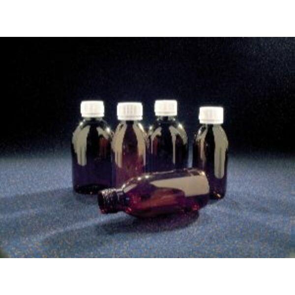 Flakon 250 ml, barna PET (fehér kupakkal)