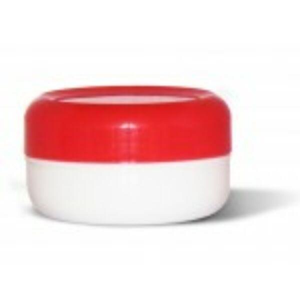 Kozmetikai tégely PP fehér-piros 40 ml