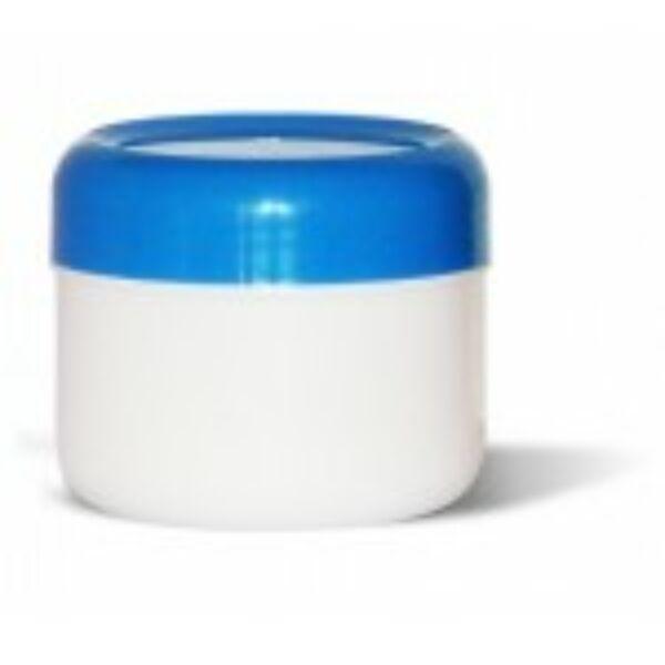 Kozmetikai tégely PP fehér-kék 75 ml