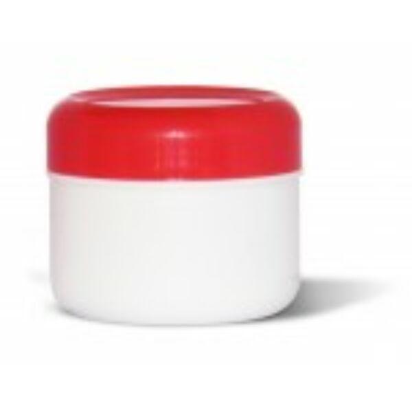 Kozmetikai tégely PP fehér-piros 75 ml