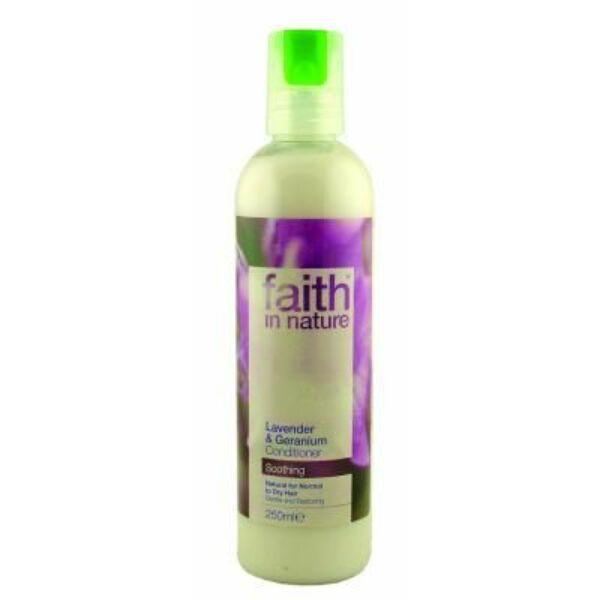 Levendula és geránium hajkondicionáló - Faith in Nature (250ml)