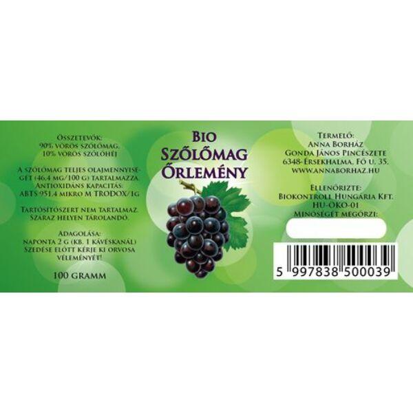 Bio szőlőmag őrlemény 100 g