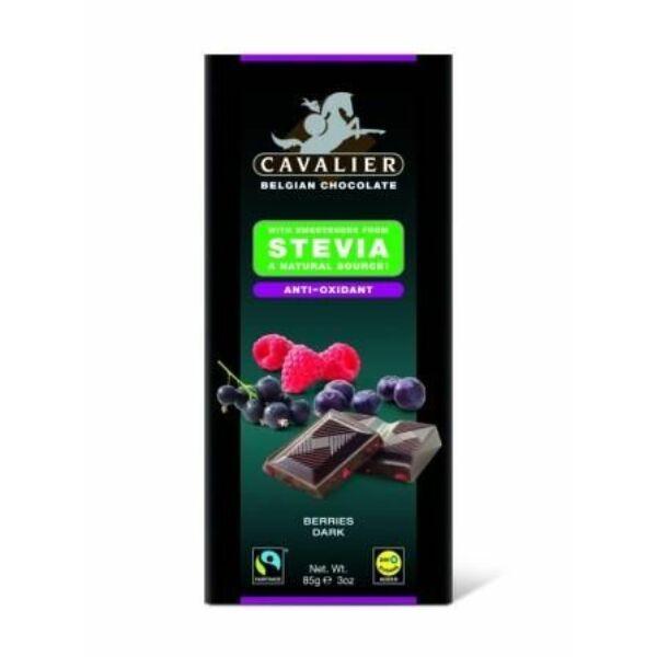 Étcsokoládé szárított bogyós gyümölcsökkel 85 g - Cavalier