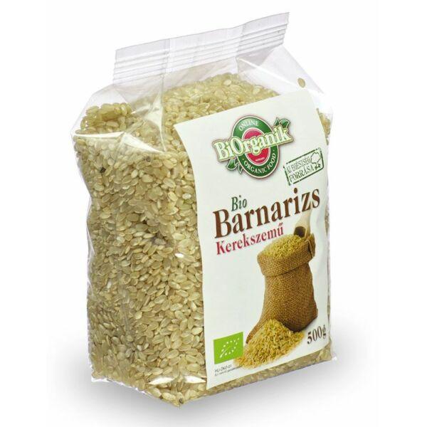 Barnarizs kerekszemű bio 500 g - Biorganik