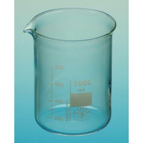 Üveg főzőpohár alacsony 250 ml