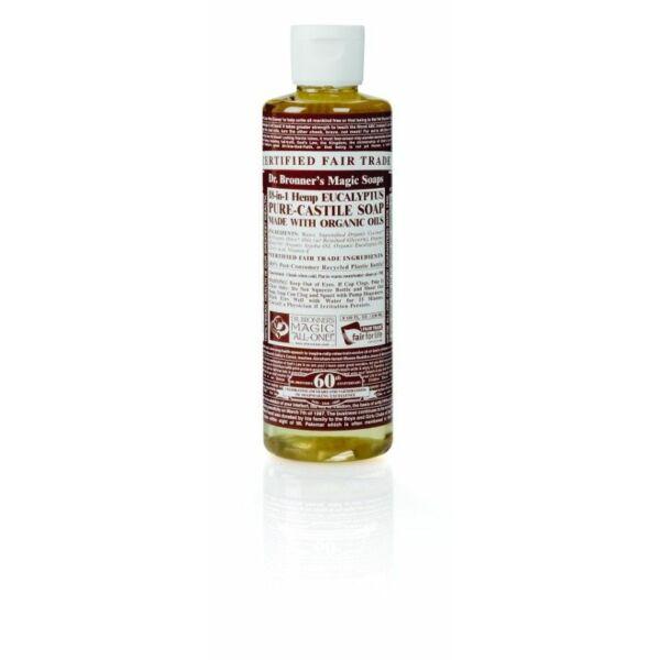 Folyékony szappan és tusfürdő eukaliptusz bio 240 ml - Dr. Bronners