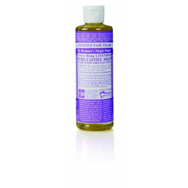 Folyékony szappan és tusfürdő levendula bio 240 ml - Dr. Bronners