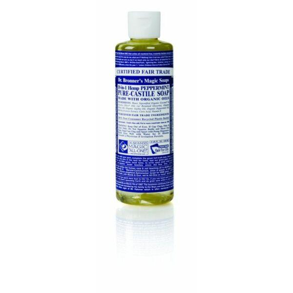 Folyékony szappan és tusfürdő borsmenta bio 240 ml - Dr. Bronners