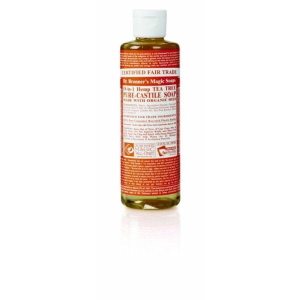 Folyékony szappan és tusfürdő teafa bio 240 ml - Dr. Bronners