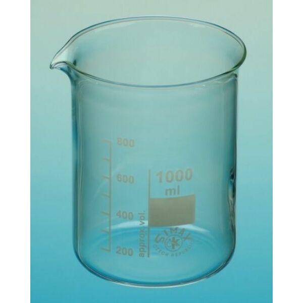 Üveg főzőpohár alacsony 1000 ml