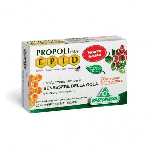 Cukormentes propolisz szopogatós tabletta alpesi gyógynövényes 20 db - Specchiasol