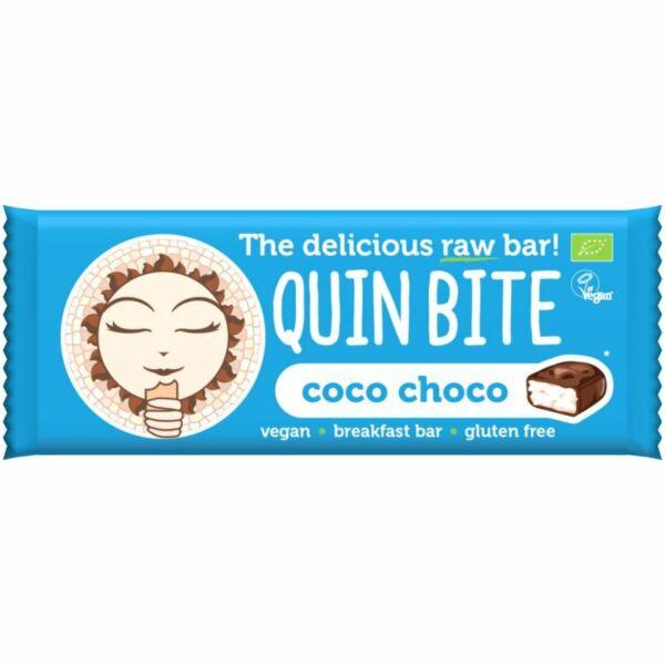 Quin Bite bio nyers szelet kókusz-kakaó 30 g