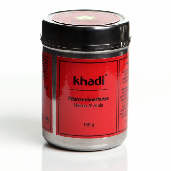 Hajfesték por henna&amla 150 g - Khadi