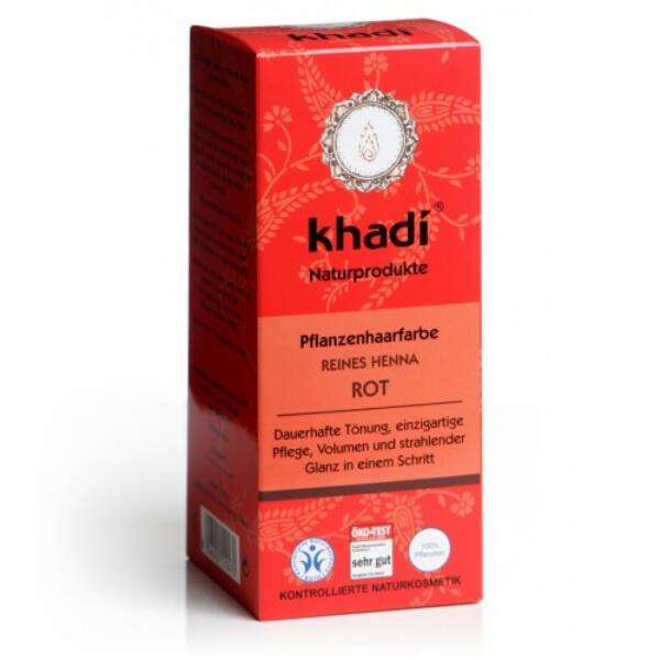 Hajfesték por élénkvörös (reines henna) 100 g - Khadi