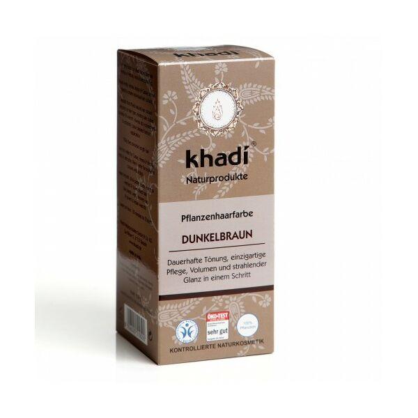 Hajfesték por sötétbarna (dunkelbraun) 100 g - Khadi