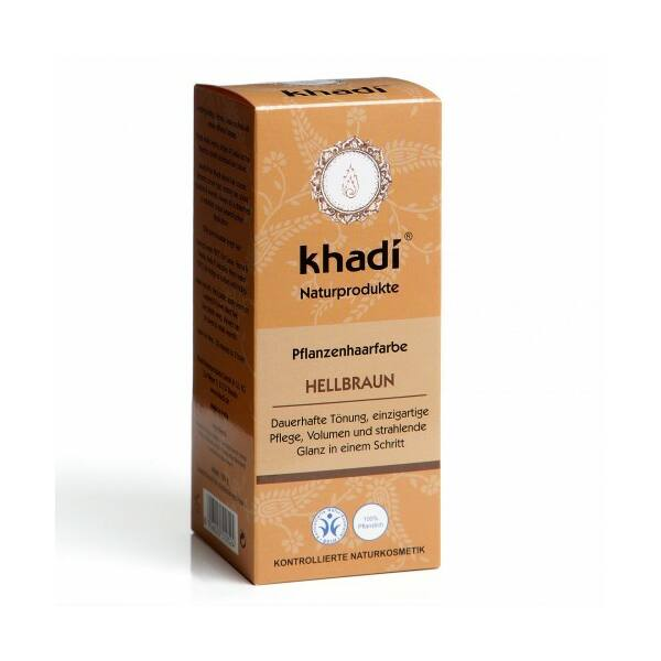 Hajfesték por világosbarna (hellbraun) 100 g - Khadi