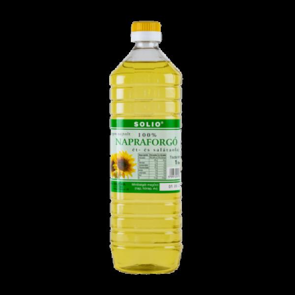 Napraforgó olaj hidegen sajtolt 1000 ml - Solio - Olajok, zsírok - Tudatos Élet - Ökokuckó webáruház