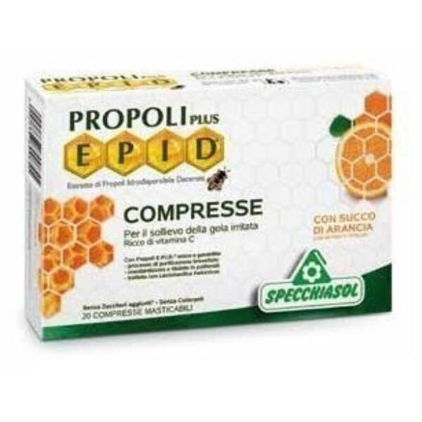 Cukormentes propolisz szopogatós tabletta narancsos 20 db - Specchiasol