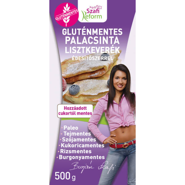 Gluténmentes palacsinta lisztkeverék 500 g - Szafi Reform