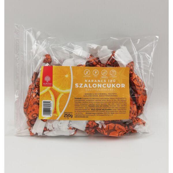 Szaloncukor paleo Narancs ízű krémmel töltött 250 g